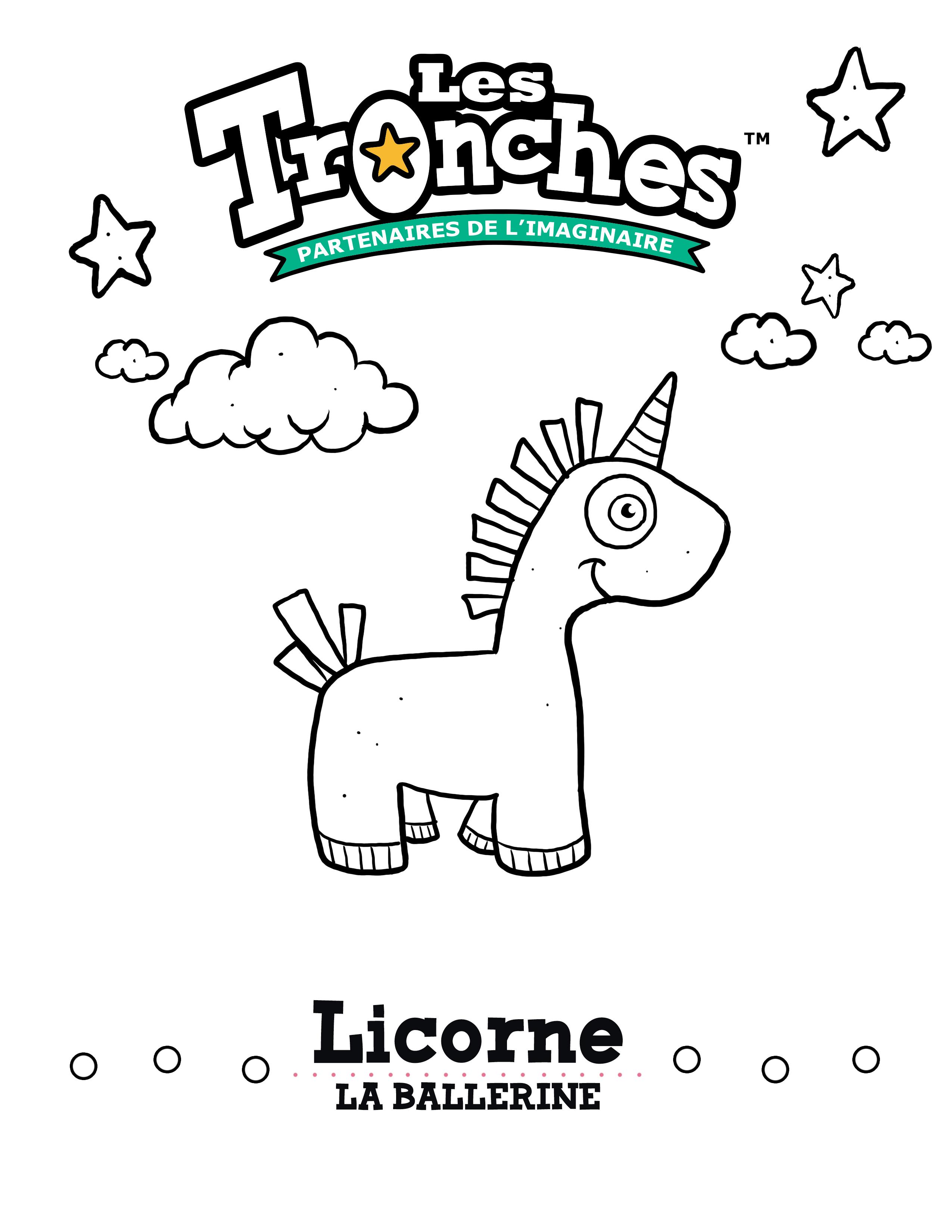 Dessin colorier licorne la ballerine souris verte - Dessins licorne ...